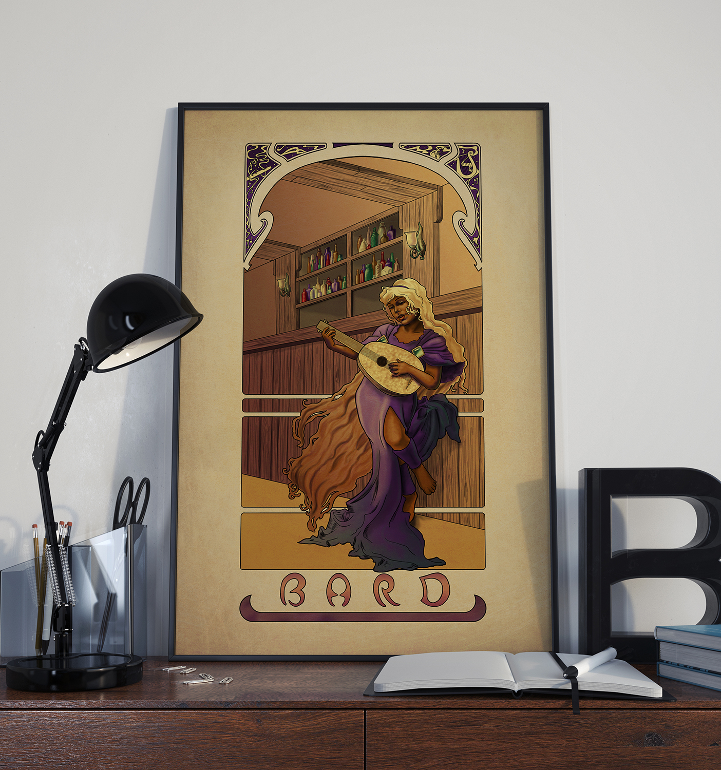 La Barde – The Bard – Print