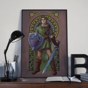 Legend of Zelda – Courage – Link Print