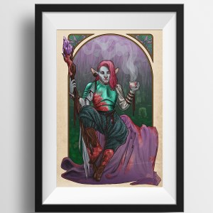 Critical Role – Tea and Tranquility – Caduceus Clay Print
