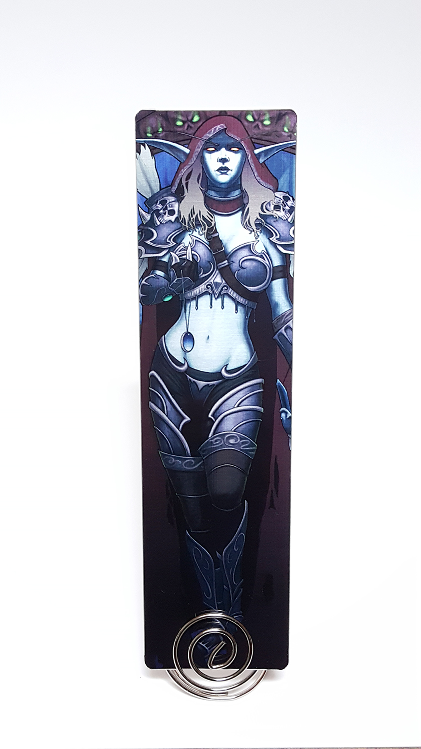 Dark Lady Watch Over Us Metal Bookmark