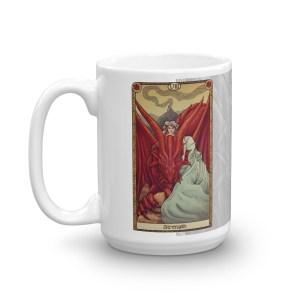 Tabletop Tarot – Strength Mug White