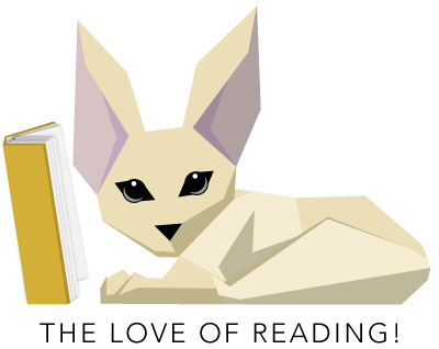 Fen the fennec fox reading his book.