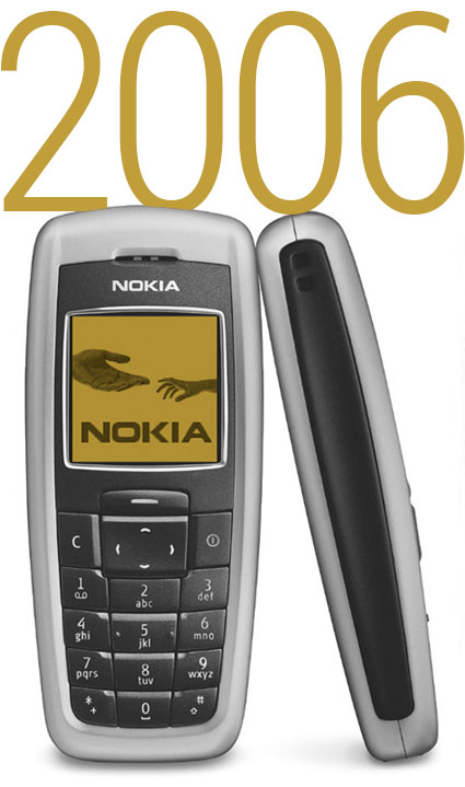 The best selling phone of 2006, the Nokia 2600