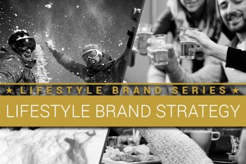 Lifestyle Brand Series. Lifestyle Brand Strategy. Snowboarders having fun in the snow. People having fun drinking in the ski lodge.