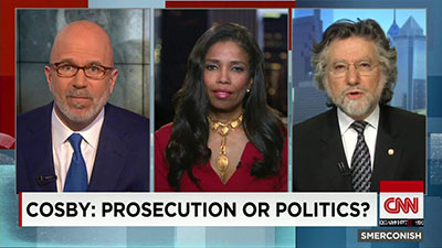 Areva Martin on CNN talking about Bill Cosby's prosecution.