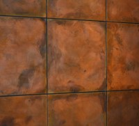 Burnt Copper Z-Clipped Floating STEEL WALL PANELS ...