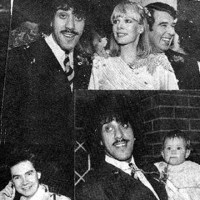 Phil Lynott marries Caroline Crowther, Feb, 1980.