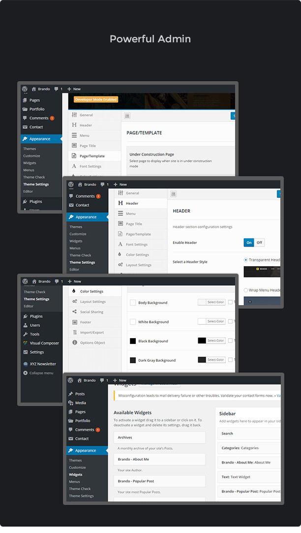 Brando Responsive and Multipurpose OnePage WordPress Theme - 20