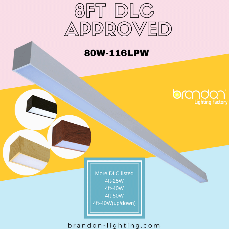 Dlc Listed 8ft Led Linear Suspended Fixture Welcome To Brandon