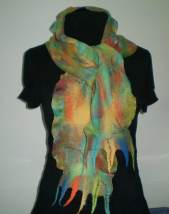 Scarf in Greens