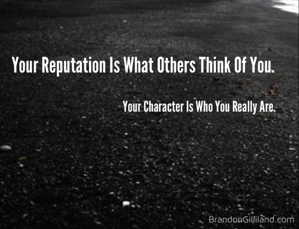 reputation vs character