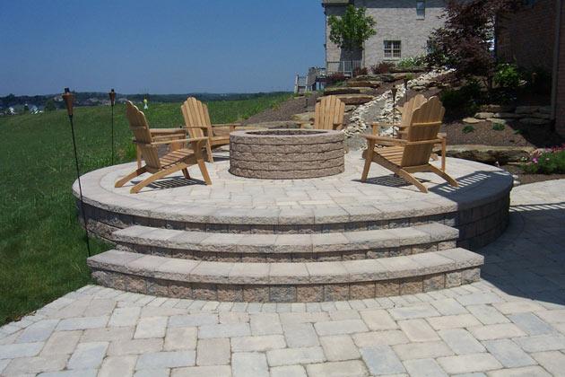 paving patio installation by brandon