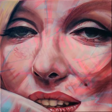 Marilyn, 2014. 100 x 100 cm. Spray paint and acrylic on canvas.
