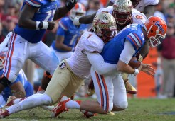 Christian Jones sacks Florida QB Skyler Morningweig