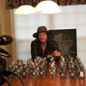 Novak with figurines