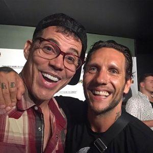 Novak with friend