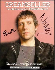 "BRANDON NOVAK / JOE FRANTZ 8"" X 10"" SIGNED FRAMED GLOSSY PHOTO (LIMITED EDITION)"