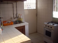 This was a kitchen in one of my favorite apartments. Many a great meal was made here; as well as many great memories, such as the exploding can of tomato paste, the grease fire, and the failed birthday cake without sugar that made me so sick that I was puking blood. Good times.