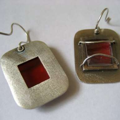 earrings_photolith_red_unique_lens_silver