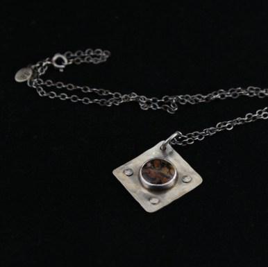 necklace_jasper_silver_rustic_unique_rivets_patina