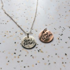 necklace_stamped_soul_sisters_copper_and_silver
