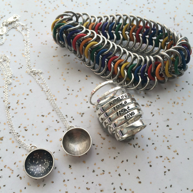 Assortment of Handmade Jewelry by Brandon Rubin