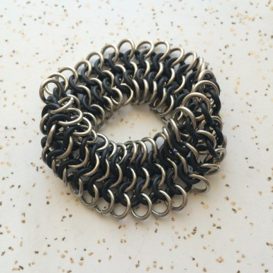 Wide Stretch Bracelet - Euro 4-1 Chainmaille