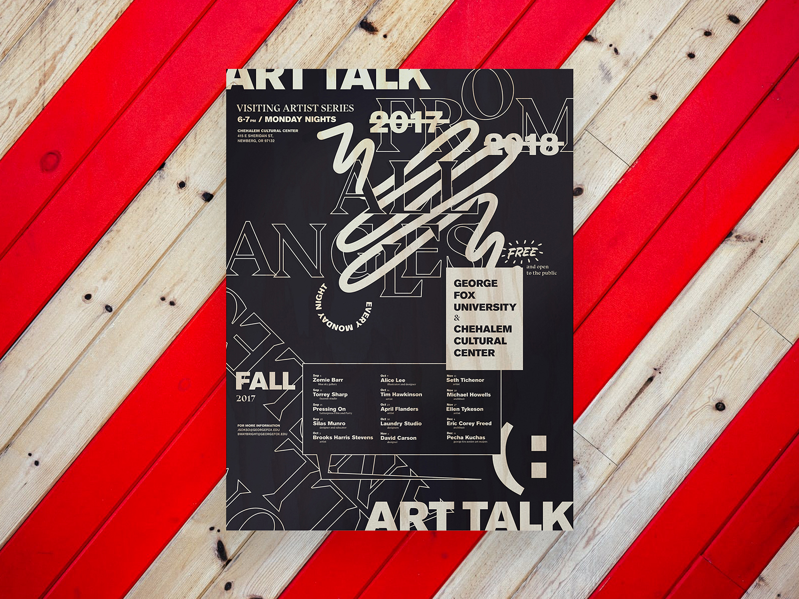 Art Talk, Visiting Artist Series, Poster