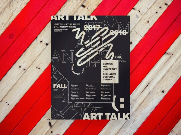 Art Talk, Visiting Artist Series, Poster
