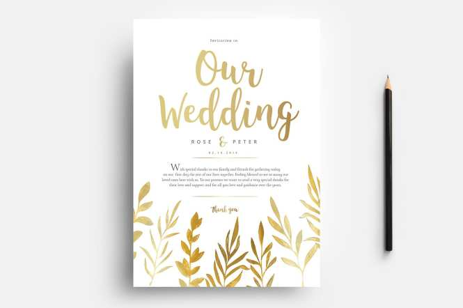 Free Watercolour Wedding Templates For