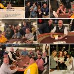 Multiple photos of Brandpoint services employees playing Texas Hold'em