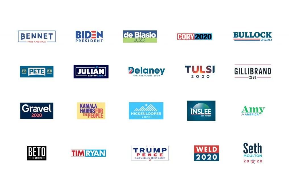 2020 Presidential Candidate Logos