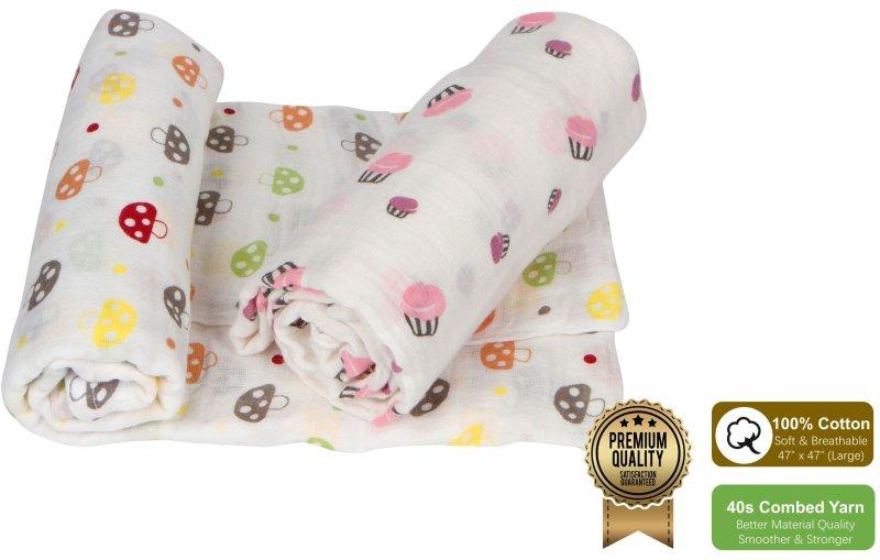 Amazrock Best Swaddle Blankets Series - Fun Pink