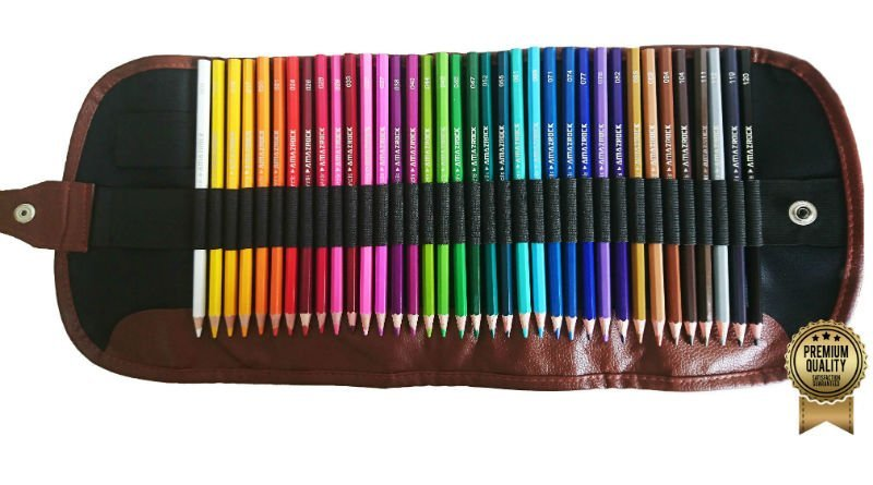 Water Soluble Colored Pencil Set (Soft Core Special Edition) by Amazrock