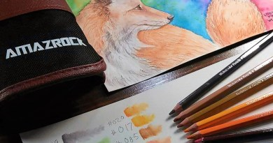 Watercolor Pencils Painting Tutorial   How to paint a fox with Amazrock pencils