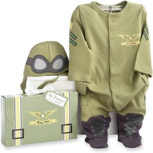 Baby Aspen, Big Dreamzzz Baby Pilot Two-Piece Layette Set