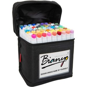 Bianyo Classic Series Alcohol-Based Dual Tip Art Markers(Set of 72,Travel Case)