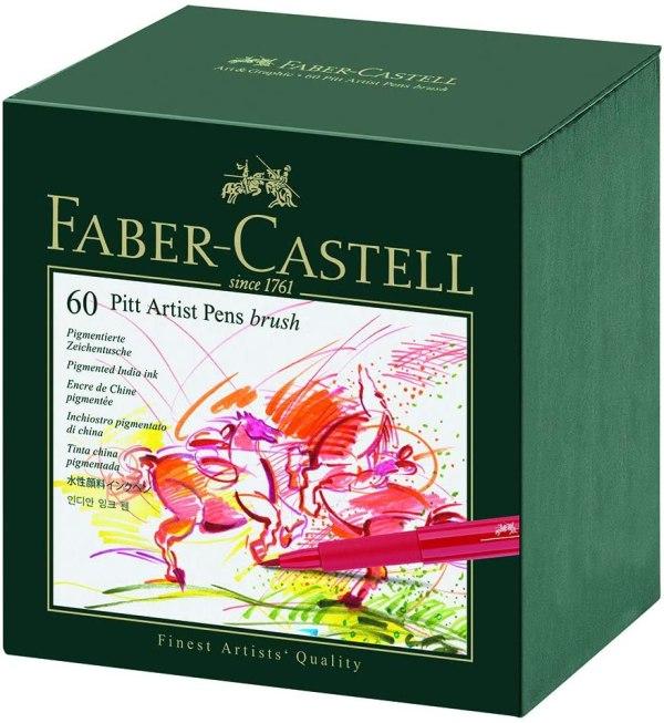 Faber Castell 60 Piece Pitt Artist Brush Pen Set
