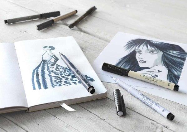 Faber-Castell F167808 8x Pitt Artist Pens Shades of Grey (Soft Brush)