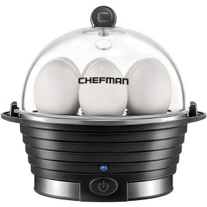 Chefman Electric Cooker Boiler, Rapid Poacher, Food & Vegetable Steamer