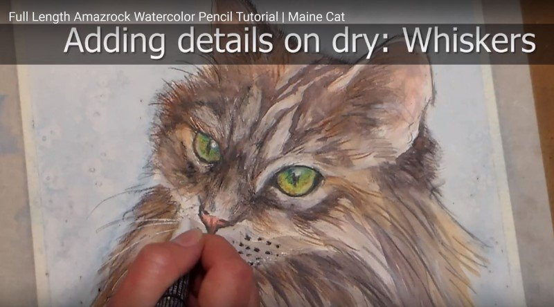 Amazrock Watercolor Tutorial | Mixed Media Coloring Painting