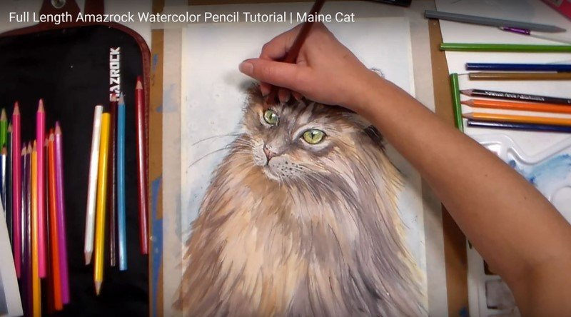 Amazrock Watercolor Tutorial | Use Dry like a regular colored pencil