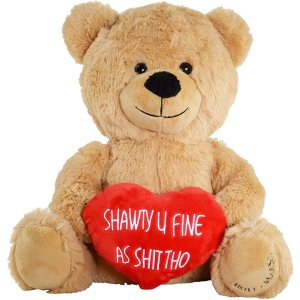 Hollabears Shawty U Fine Teddy Bear - Funny Plush for The Girlfriend, Boyfriend or Best Friend