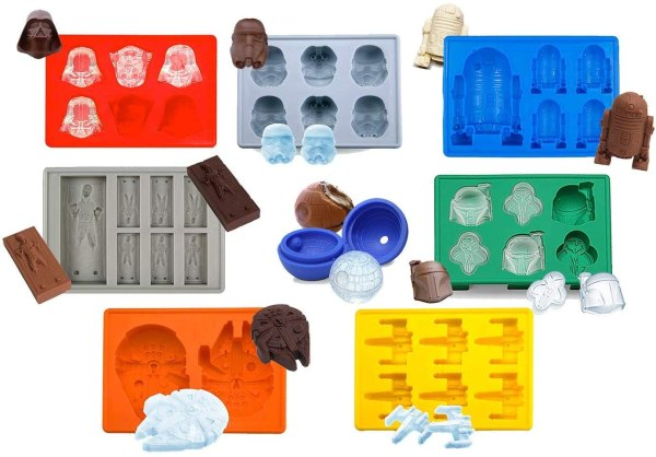 Set of 8 Star Wars Silicone Ice Trays - Chocolate Molds
