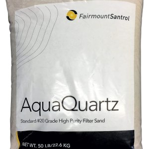 FairmountSantrol AquaQuartz-50 Pool Filter 20-Grade Silica Sand 50 Pounds, White
