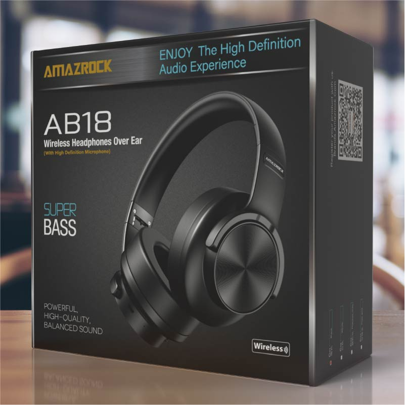 "Amazrock Product Warranty for ""Amazrock AB18 Wireless Headphones Over Ear - SUPER BASS 