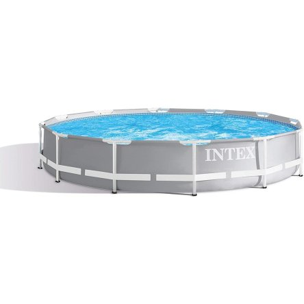 Intex Round Prism Frame Pool Set – 12ft x 30″ (Model: 26711EH)