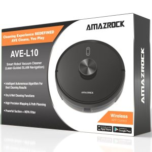 Amazrock AVE-L10 Smart Robot Vacuum (Laser Guided Navigation) - With Packaging