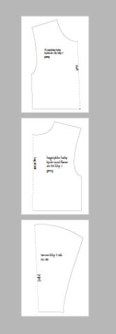 mønster til baby kjole str. 86 med flæse