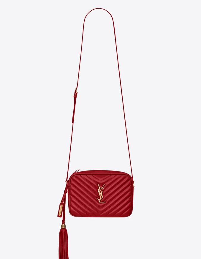 3b44637fa9e CASSANDRA MONOGRAM CLASP BAG IN SMOOTH LEATHER ($2,350) SAINT LAURENT MONOGRAM  BAG WITH FLAP CLOSURE AND STUDS ON THE SIDES, TWO COMPARTMENTS, ...